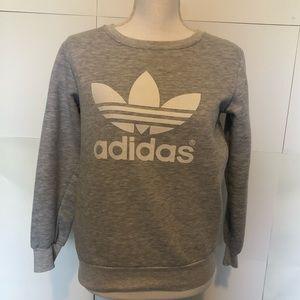 Adidas gray crew sweatshirt size small unisex
